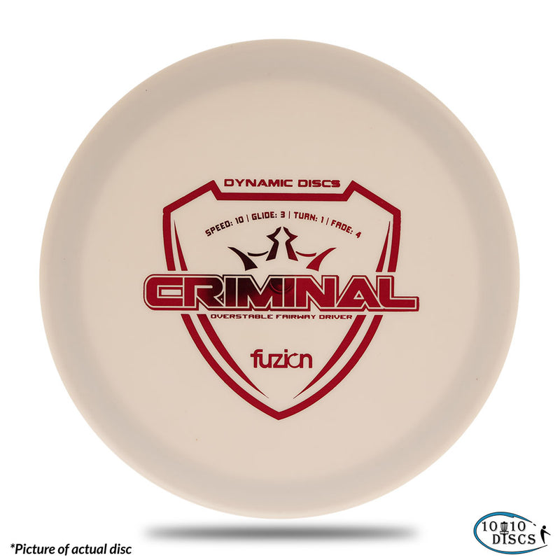 Dynamic Discs Criminal Very Overstable Fairway/Control Driver - 1010 Discs