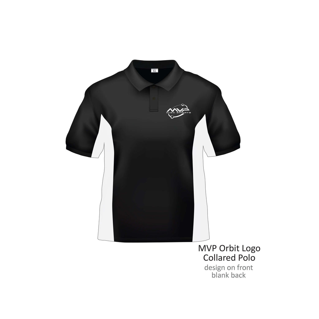 MVP Orbit Dri-Fit Polo - Black & White - 1010 Discs