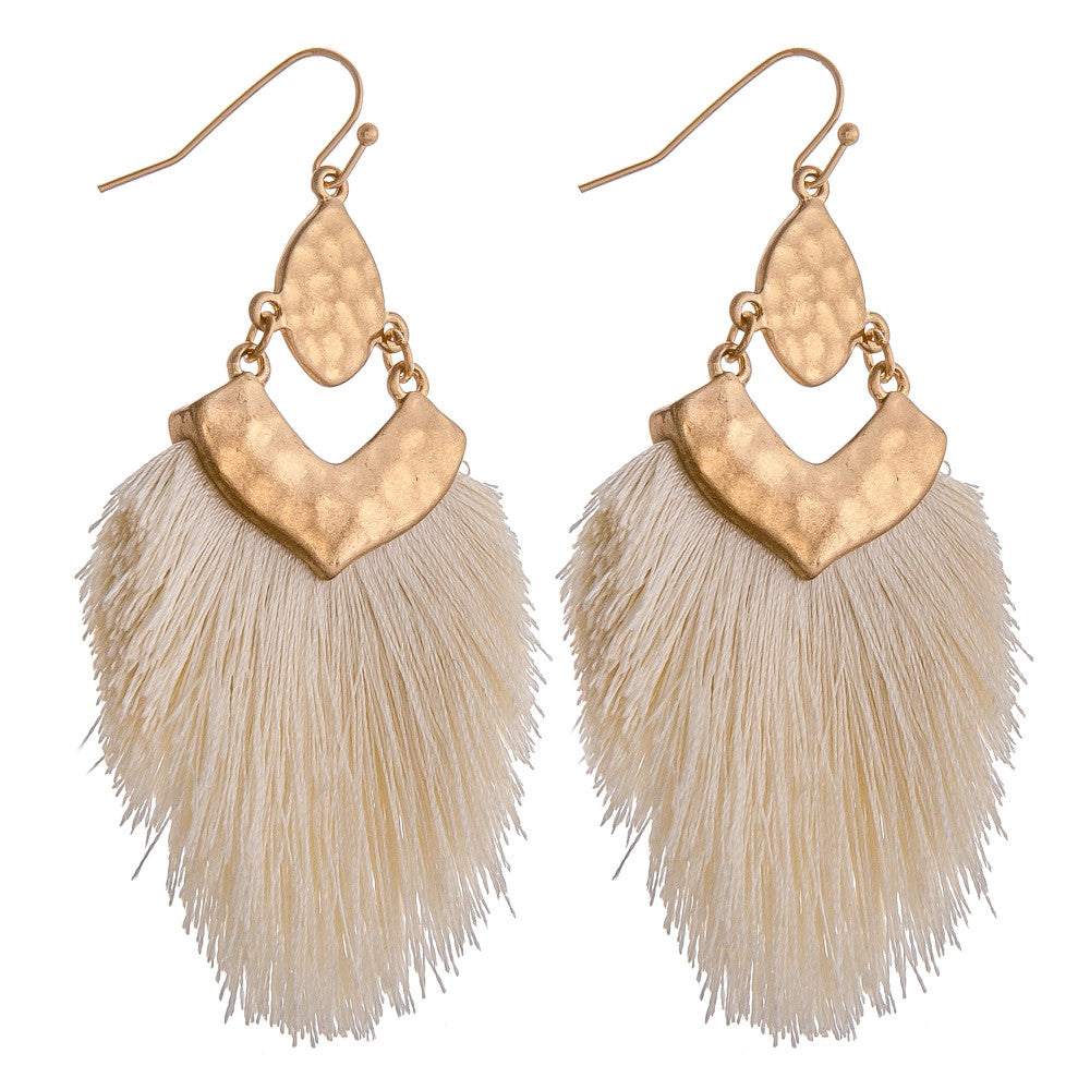 AT THE GREEK EARRINGS-IVORY