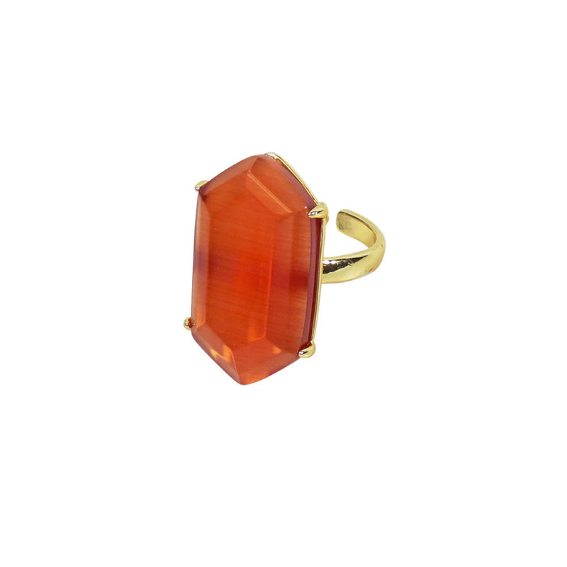 CARNELIAN ADJUSTABLE RING