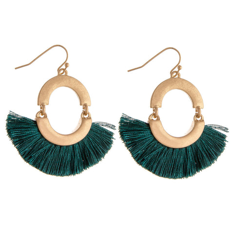 GOLD TOP METALLIC FEATHER EARRING- BURGUNDY
