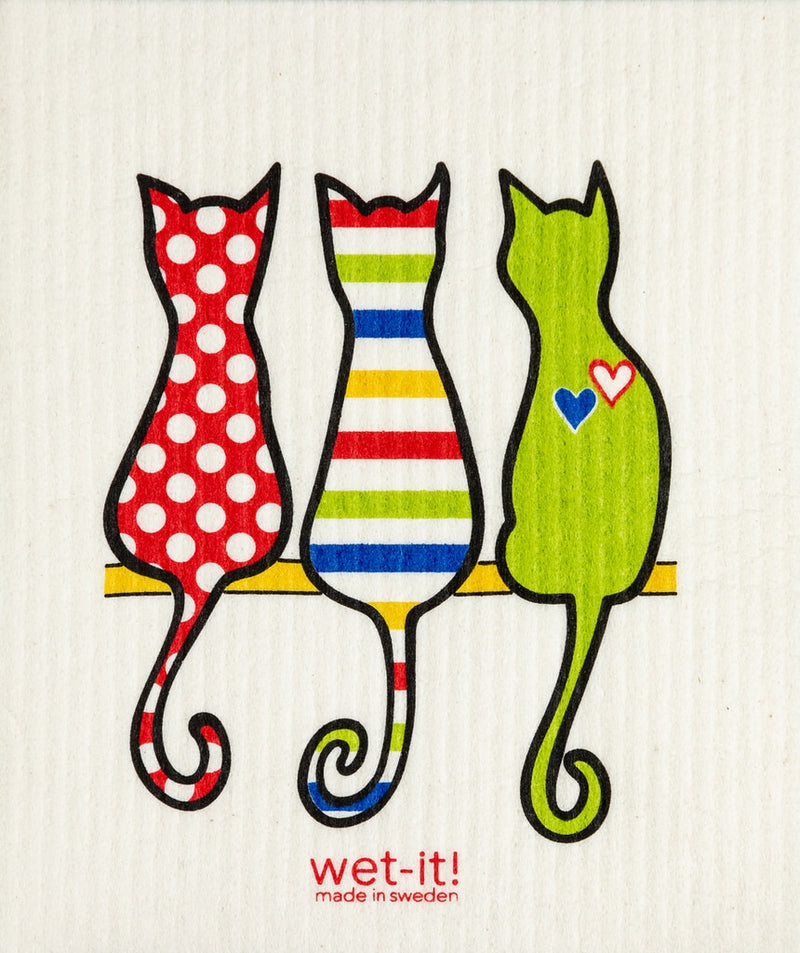 SWEDISH CLOTHS-CAT LOVER MULTI DESIGN