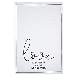 LOVE & KISSES TEA TOWEL