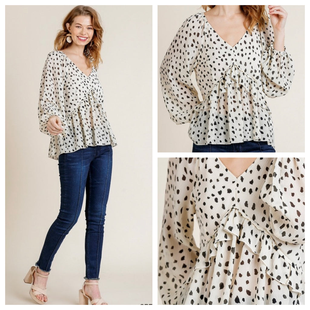 AINSLEY POLKA DOT TOP