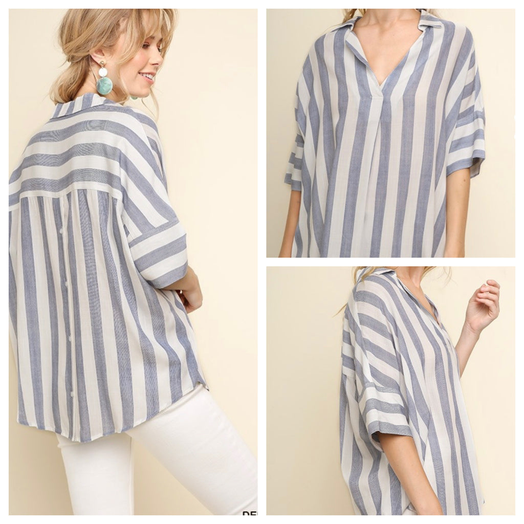 SYLVIE STRIPED TOP