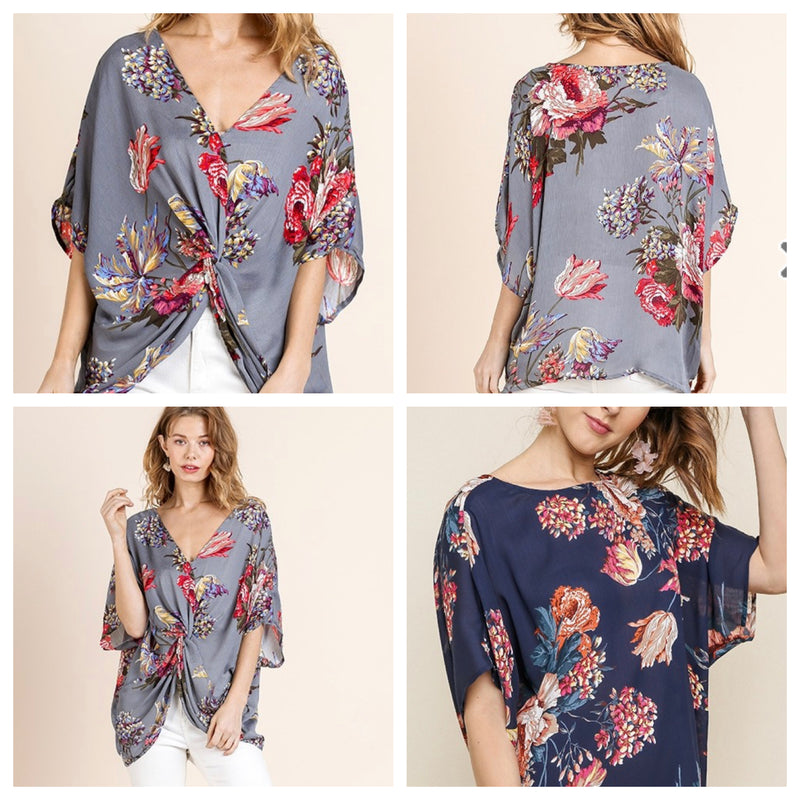 FLOWER POWER DOLMAN SLEEVE TOP