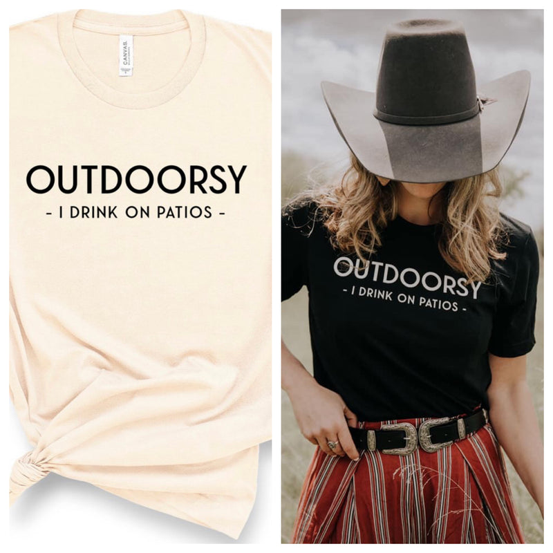 OUTDOORSY T SHIRT-IVORY