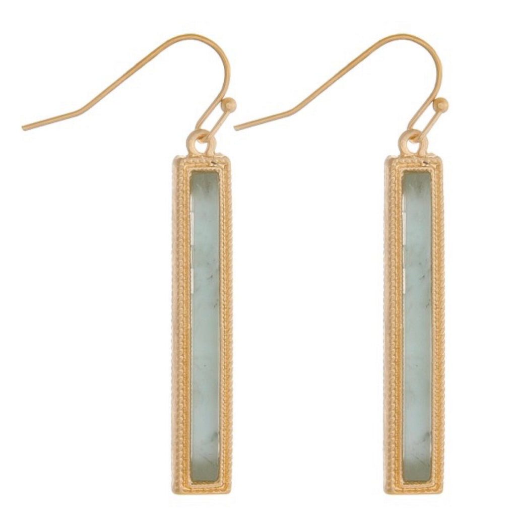 SLIM JADE BAR EARRINGS