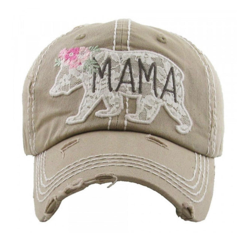 MAMA BEAR BALL CAP