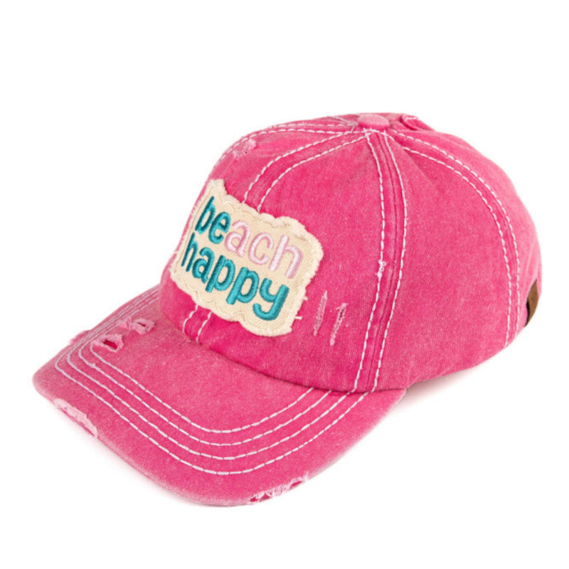 BEACH HAPPY/BE HAPPY BALL CAP