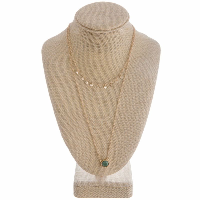 JADE DOT NECKLACE
