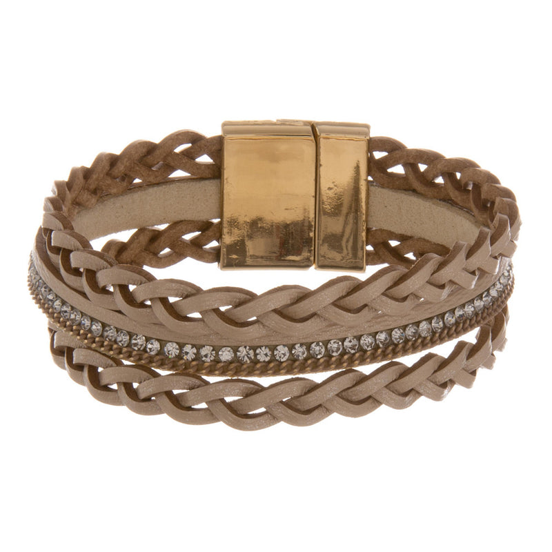BRAID THE WAY BRACELET-BEIGE