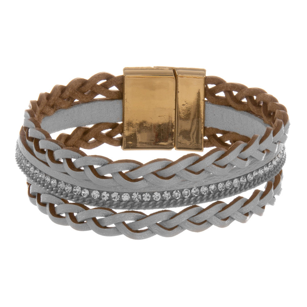 BRAID THE WAY BRACELET-GRAY
