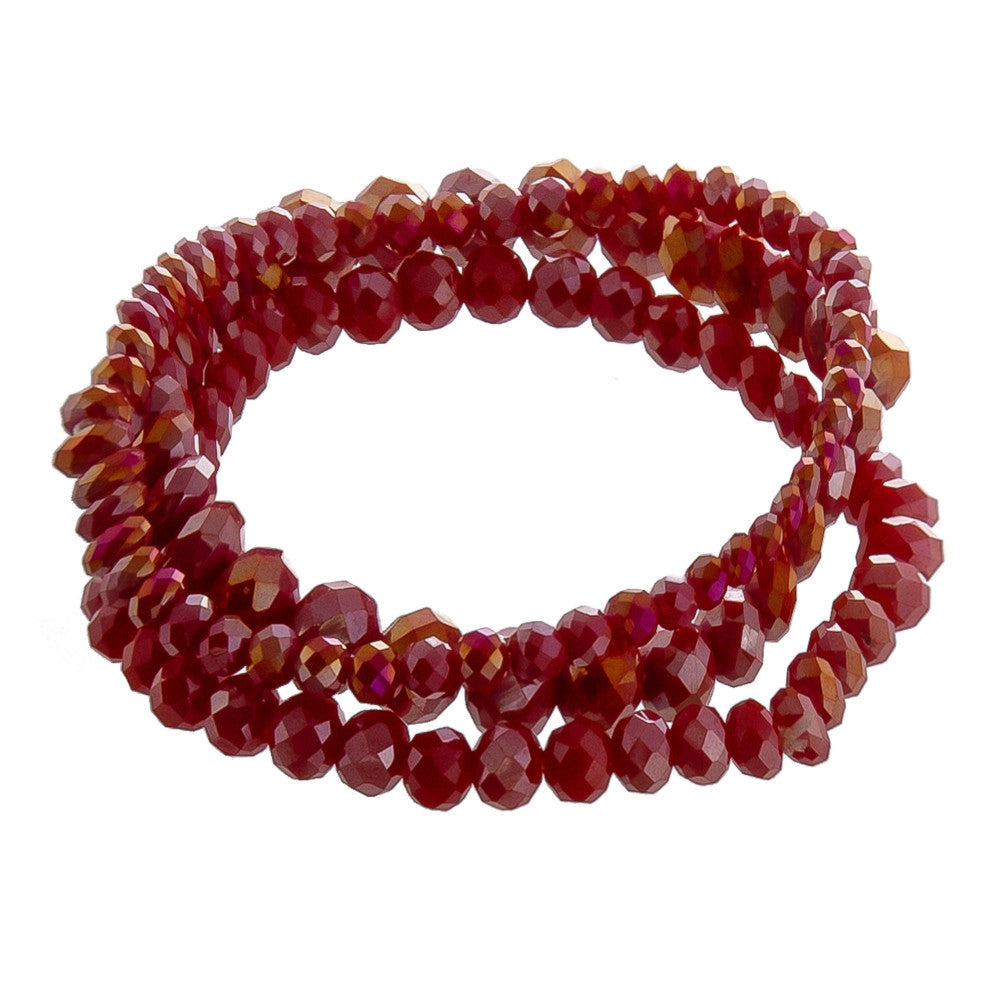FASCINATION MULTI STRAND BRACELET-RED