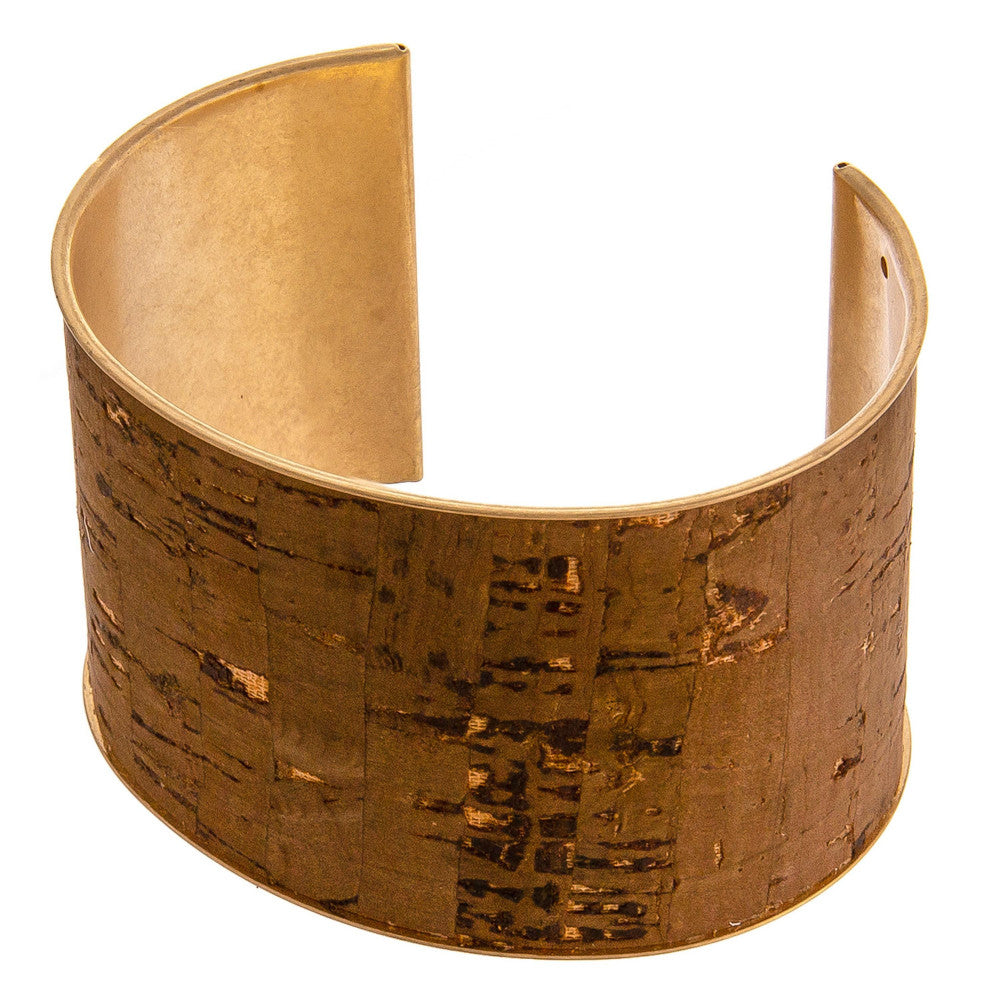SOBREIRO WIDE CORK CUFF-BROWN