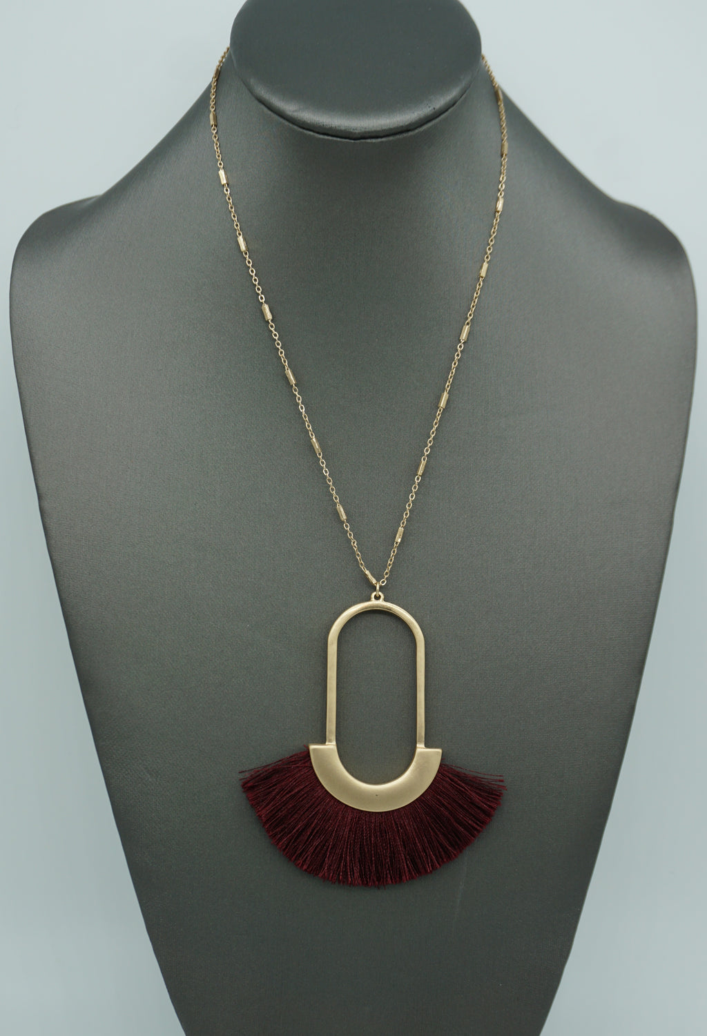 EMPRESS FAN TASSEL NECKLACE