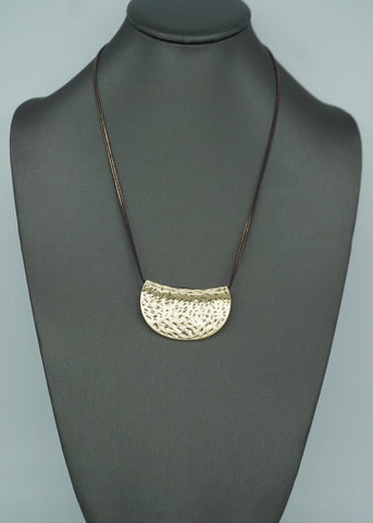 SUNBURST TRI LAYER NECKLACE-GRAY
