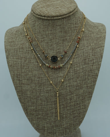 TRENDSETTER  COLOR BLOCK NECKLACE
