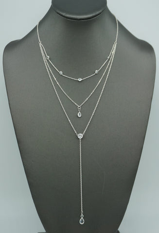 METALLIC LANTERN NECKLACE-SILVER