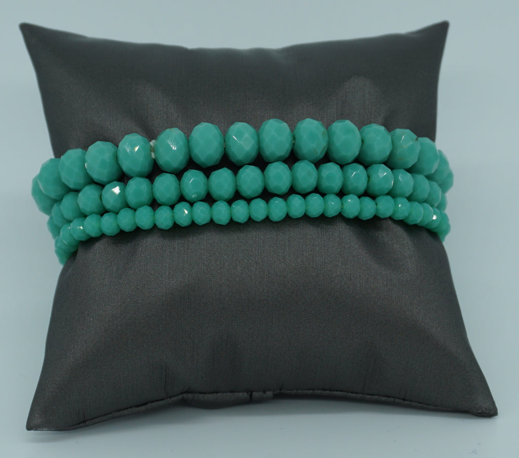 BEADED STRETCH BRACELET-TURQUOISE