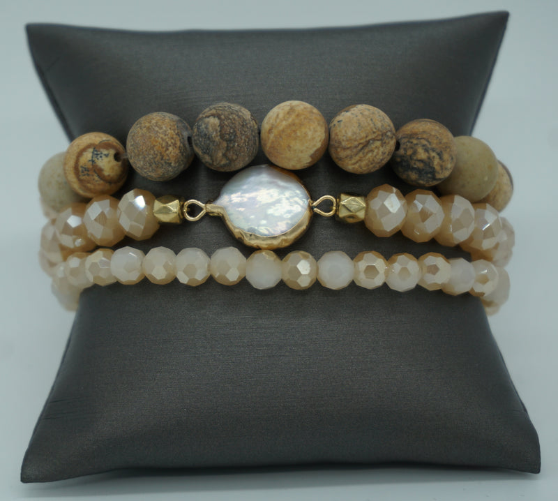 CANYON COLORS STACKED STRETCH BRACELET