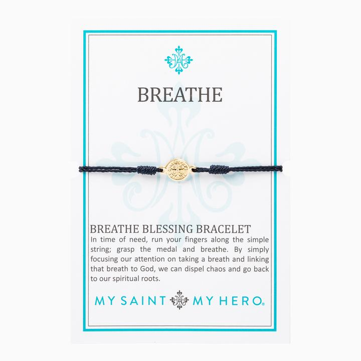 MY SAINT MY HERO BREATHE BRACELET- GOLD/BLACK