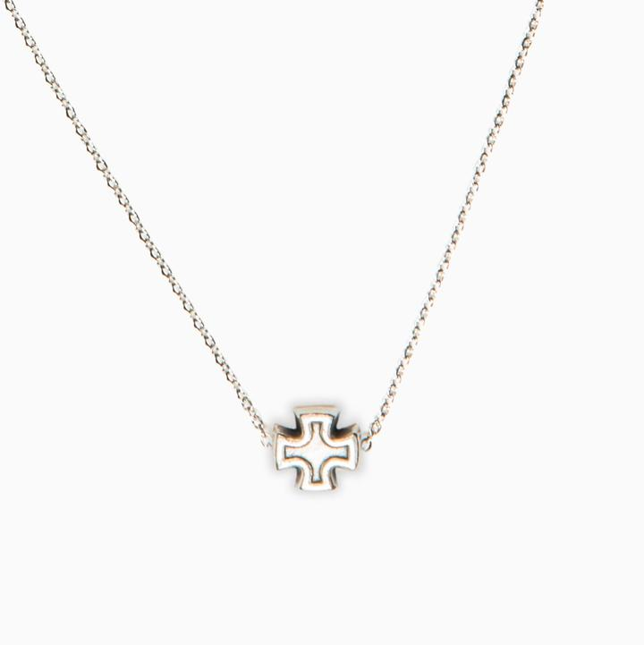 MY SAINT MY HERO FAITH PETITE NECKLACE- SILVER