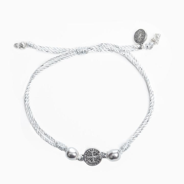 MY SAINT MY HERO JOY BRACELET- SILVER/METALLIC PLATINUM