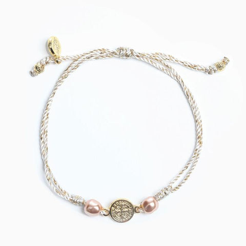 MY SAINT MY HERO SERENITY BRACELET- GOLD/METALLIC GOLD