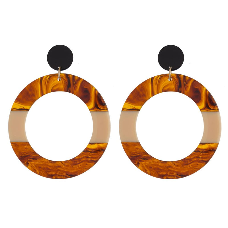 OPEN CIRCLE DROP EARRINGS