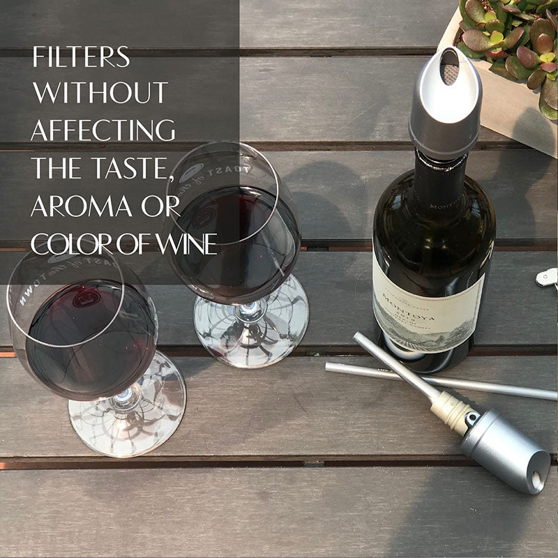 PURE WINE THE WAVE AERATOR AND FILTER