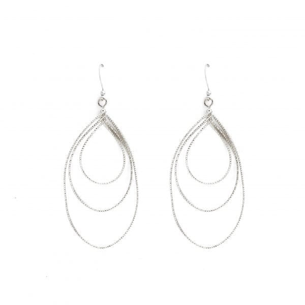 TRIPLE TEARDROP EARRINGS