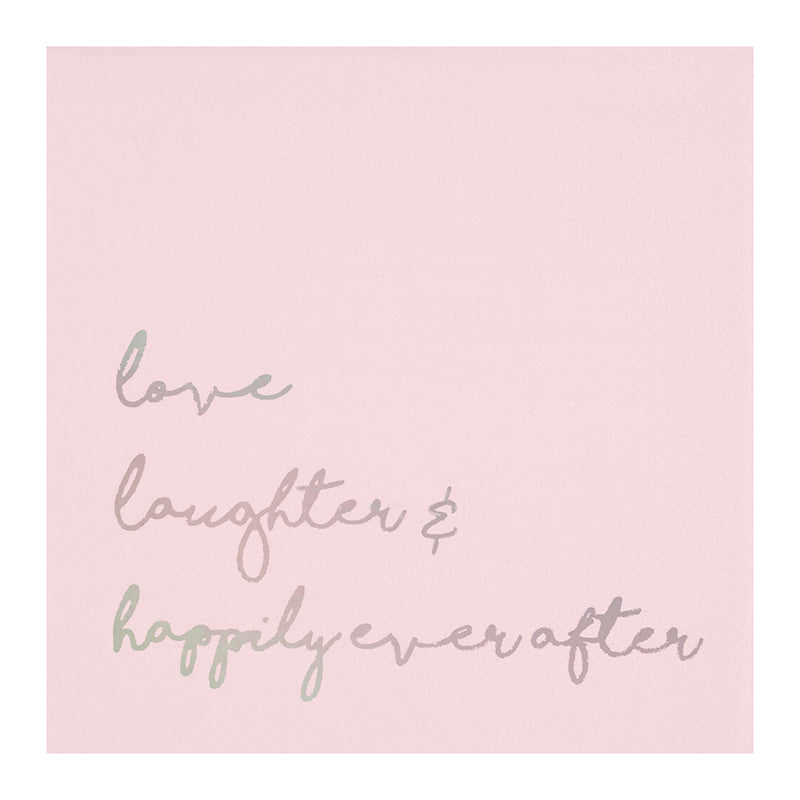 LOVE, LAUGHTER & HAPPILY EVER AFTER NAPKIN