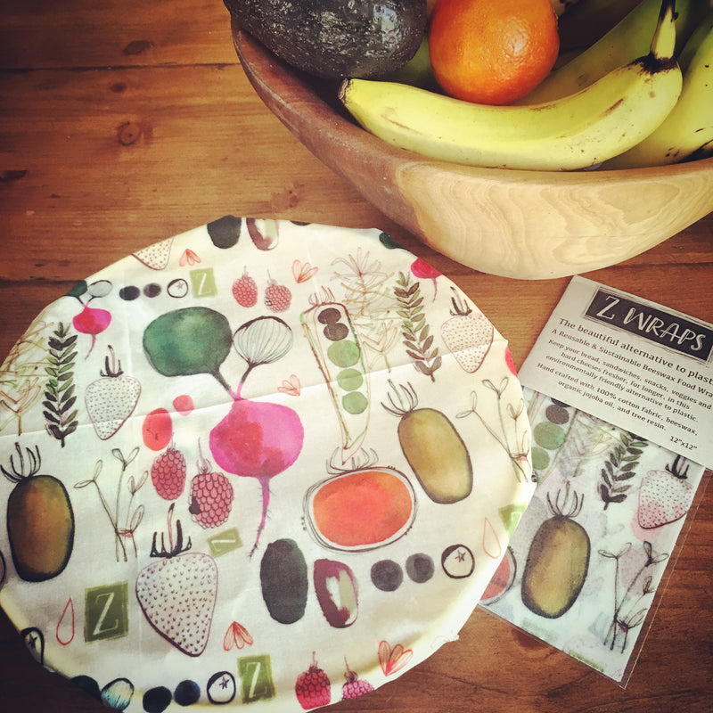 Z WRAPS REUSABLE FOOD WRAP- FARMER'S MARKET (MED)