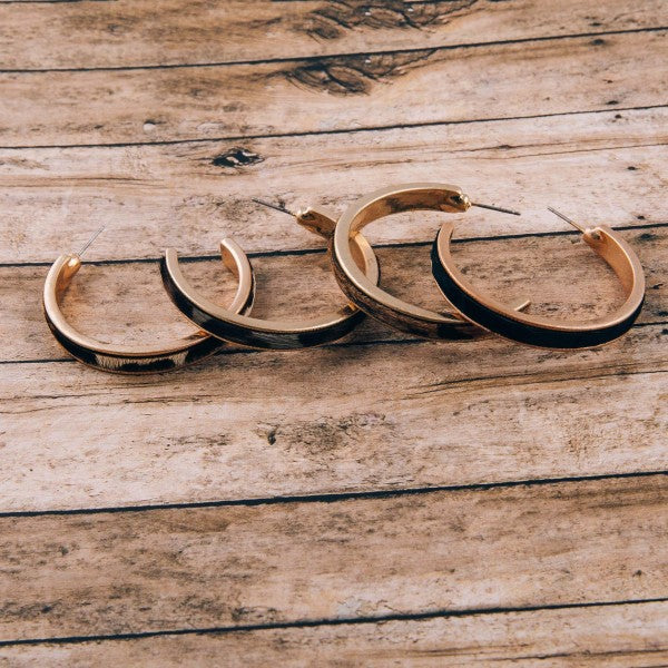 INFLUENCE GRAY LEOPARD OPEN HOOPS