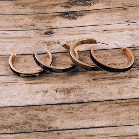 OH MY CORK HOOP EARRINGS-IVORY