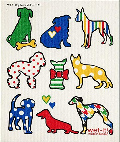 SWEDISH CLOTHS-DOG LOVER MULTI DESIGN