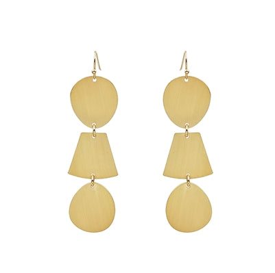 GEO RAIN DROP EARRINGS