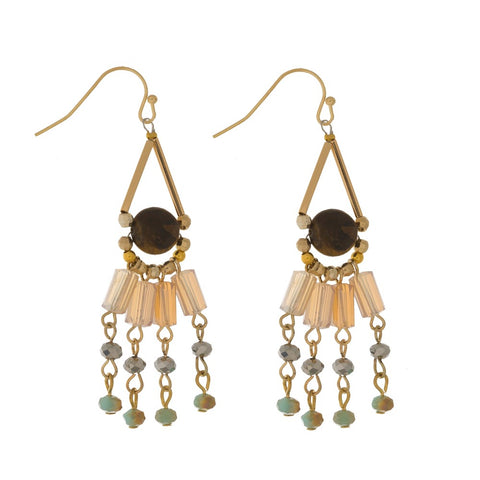 INFLUENCER PLATE DROP EARRINGS