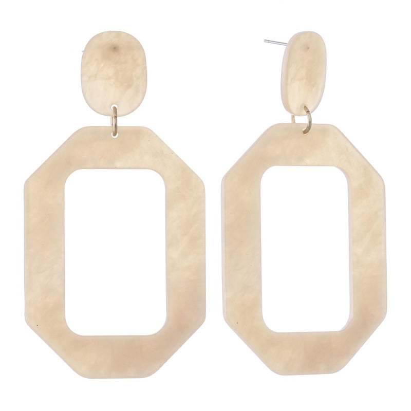 CREAM DELIGHT RESIN EARRINGS