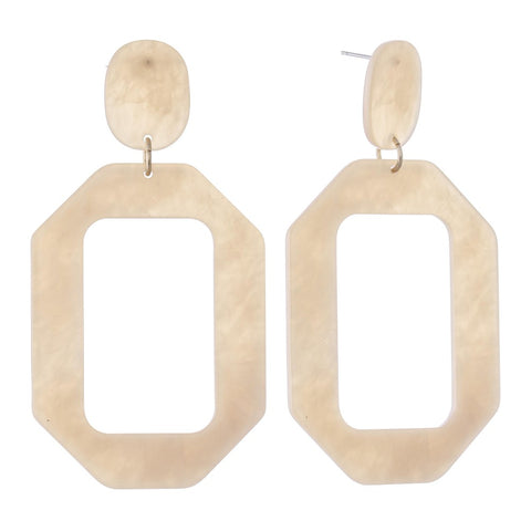 MOD SQUAD RECTANGULAR HOOP EARRINGS