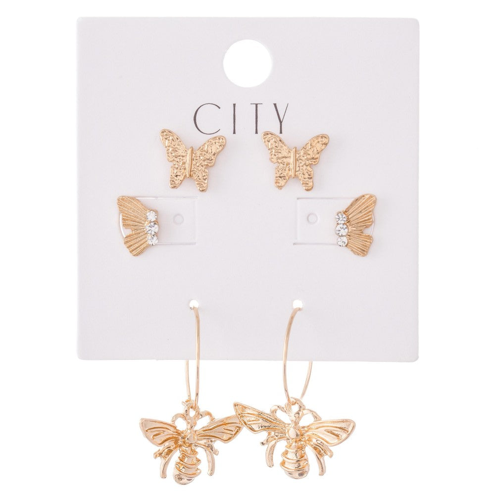 FLY AWAY EARRING SET
