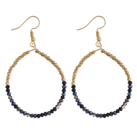 IMPRESSIONIST TEARDROP BEADED EARRINGS