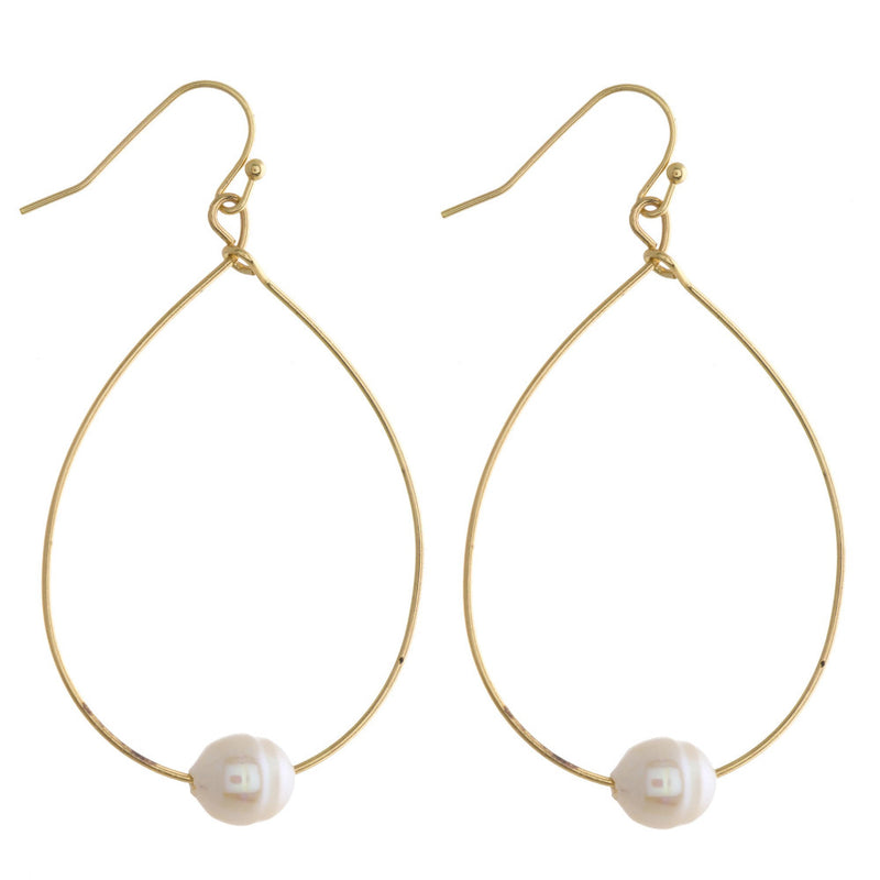 PEARLY GIRLY FISHHOOK DROP EARRINGS