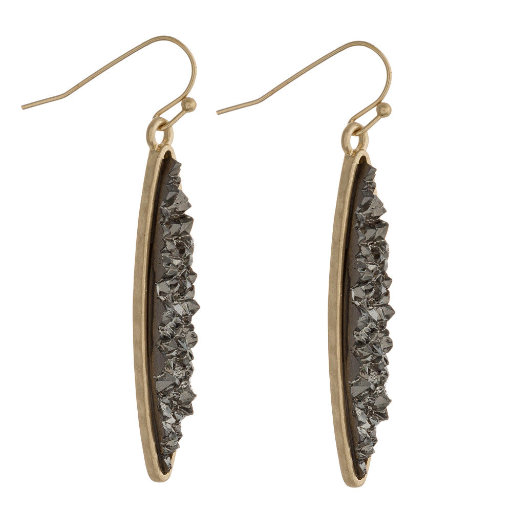DRUZY-LICIOUS DANGLE EARRINGS