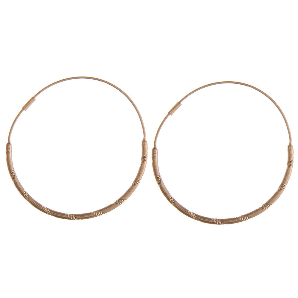 GOING FOR GOLD HOOP EARRINGS