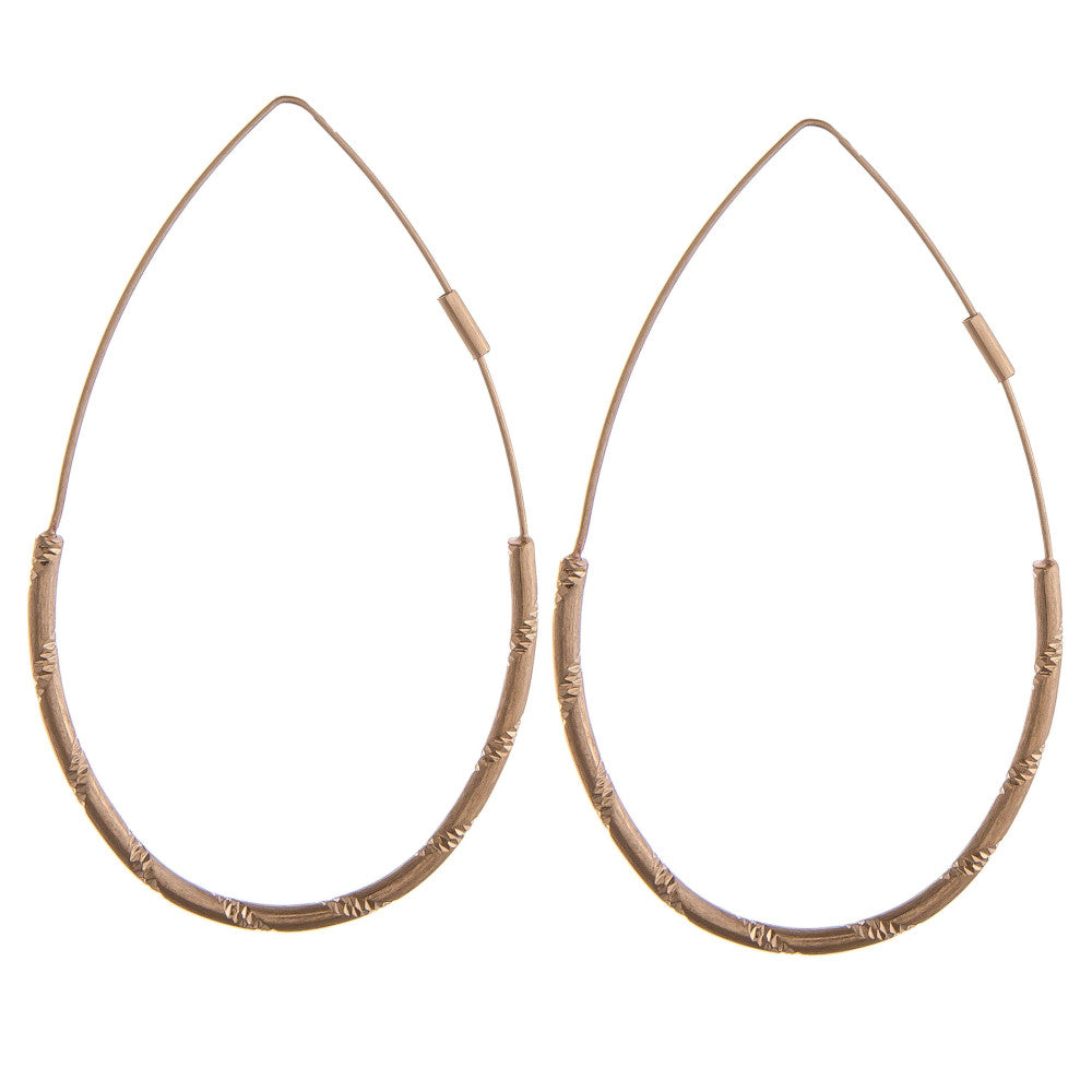GOING FOR GOLD TEARDROP EARRINGS