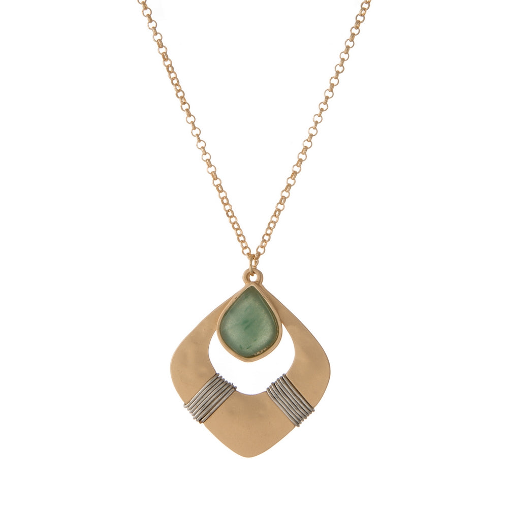 MODERN SHADES OF JADE NECKLACE