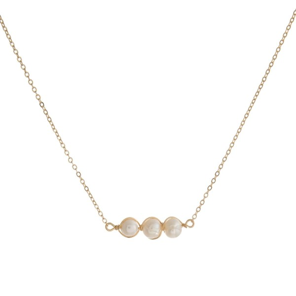 MODERN GIRL PEARLS NECKLACE