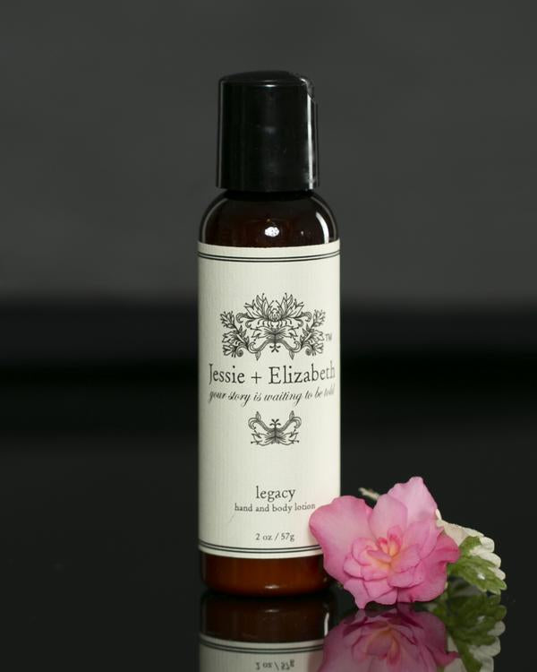 JESSIE & ELIZABETH NATURAL HAND & BODY LOTION- 2 OZ LEGACY